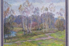 Кагане М.Л. Битцевский лес, картон, масло, 52х36_1