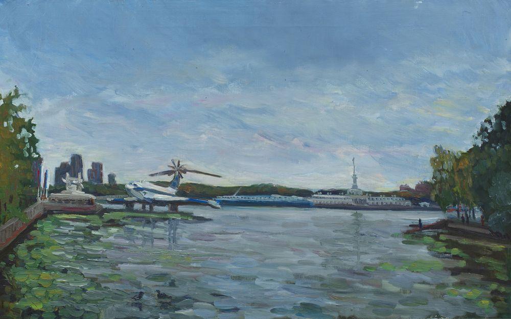 Вид на Речной вокзал от музея Речного Флота