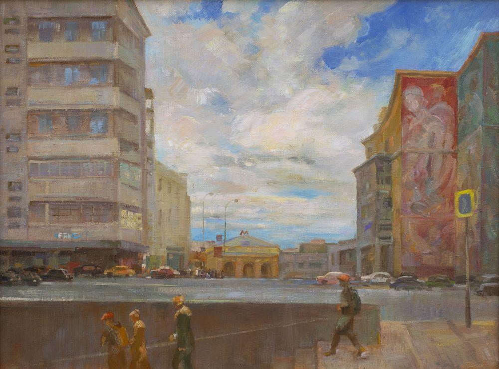 Серый день у Курского вокзала