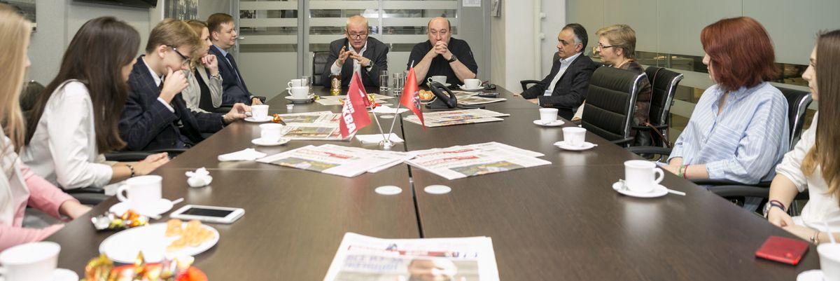 Мастер-класс для молодежного отделения Пресс-клуба при ГБУ «МДН» в редакции «Вечерняя Москва»